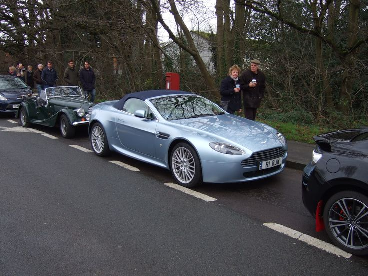 Aston Martin - New Years Day 2016 - The Pheonix Pub at Hartley Wintney on the A30 Hampshire.