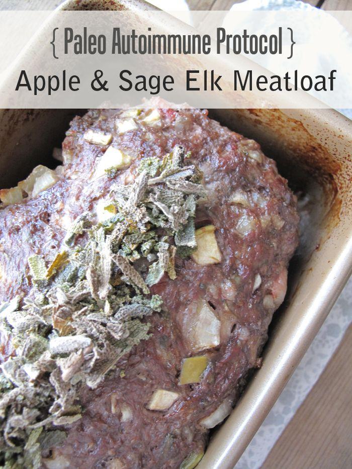 Minus the Elk .... | AIP / Paleo Apple and Sage Elk Meatloaf | http://asquirrelinthekitchen.com