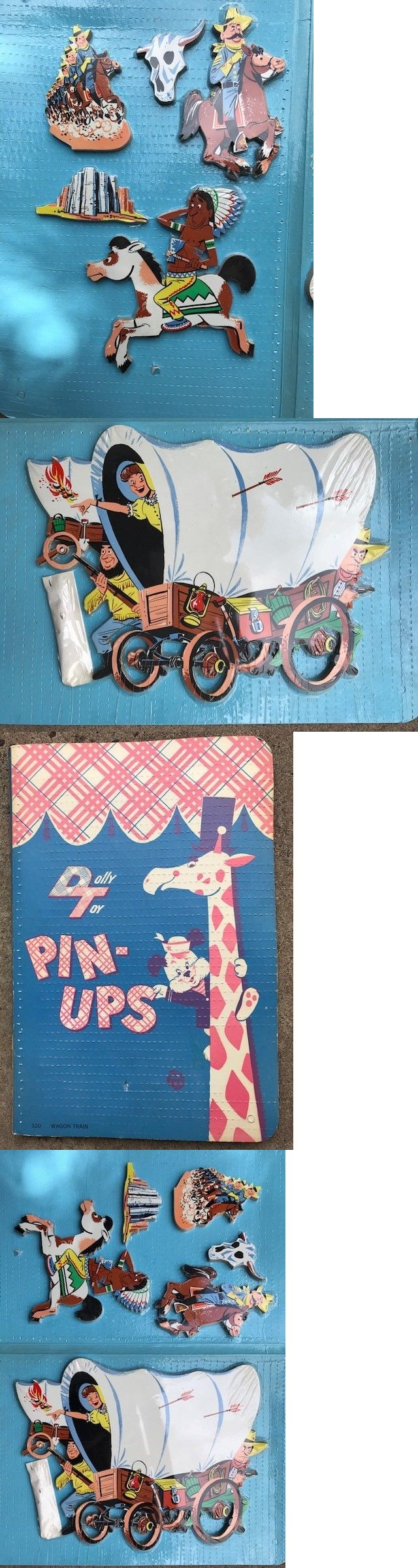 Baby Nursery: Vintage Dolly Toy Company Cowboy Wooden Pin Up Wall Hanging New Old Stock -> BUY IT NOW ONLY: $55 on eBay!