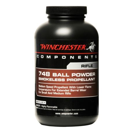 231 - One of the most popular reloading propellants, 231 is a pistol powder ideally suited to .38 Special, .45 Auto, and 9mm standard loads. Consistency, cleaning burning, low flash and a broad range of applications make this a powder of choice on any pistol reloader's shelf. 748 - The 748 is the powder of choice for .223 Rem ammunition. The low flame temperature of 748 extends barrel life versus