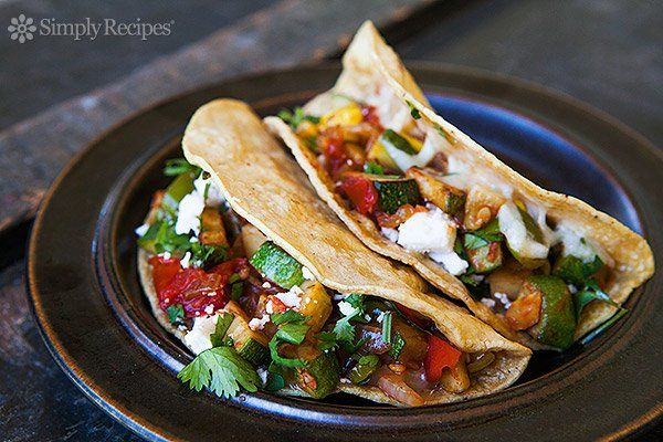Zucchini Dishes  Photo: Vegetarian Tacos