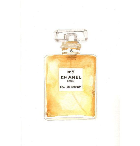 Chanel No.5 Eau de Parfum Fragrance  Watercolor door MilkFoam, $30.00