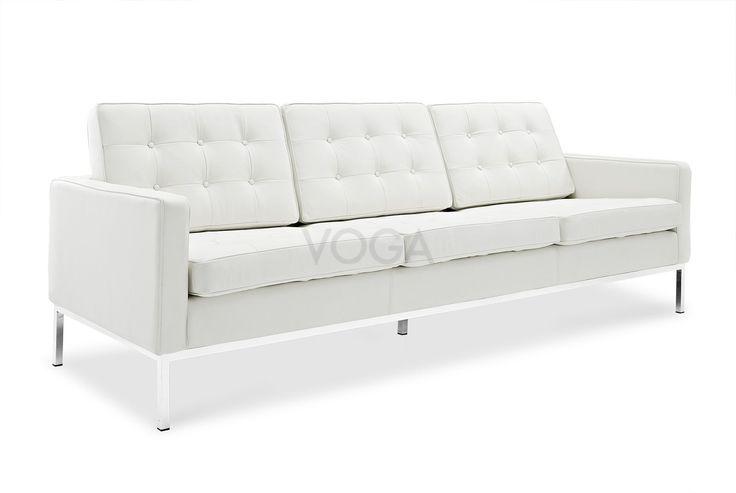 Florence Knoll tre-seters Sofa   Original kvalitet   VOGA