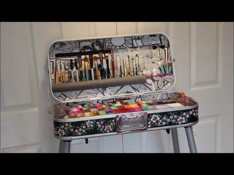 My DJ Hero Face Painting Kit, Set Up, Conversion - YouTube
