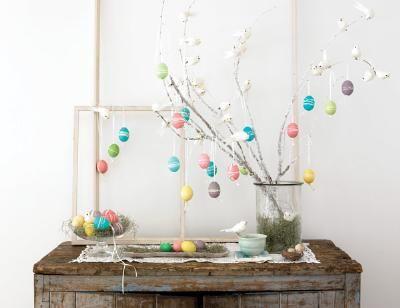 DIY Easter egg tree!
