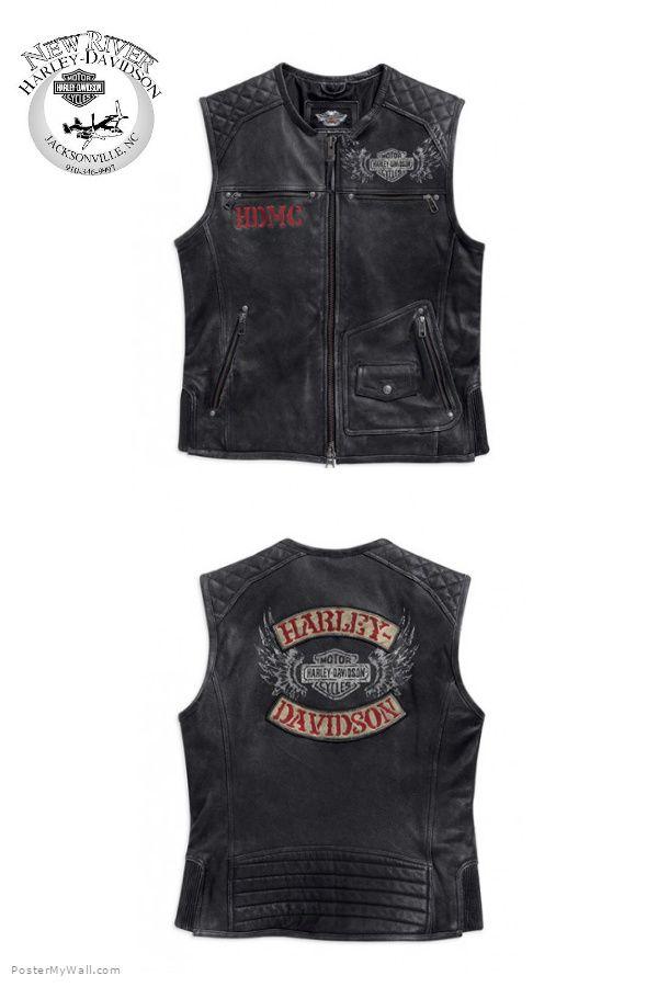 Harley-Davidson vest Men's apparel #harleydavidsonleatherjackets