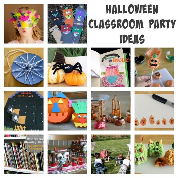 DIY Ideas for hosting a Halloween party for your child's classroom!