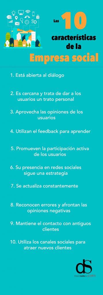 10 características de una Empresa Social #infografia #infographic