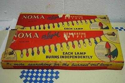 NOMA Christmas lights, 2 sets! all work! on eBay from missrubyb