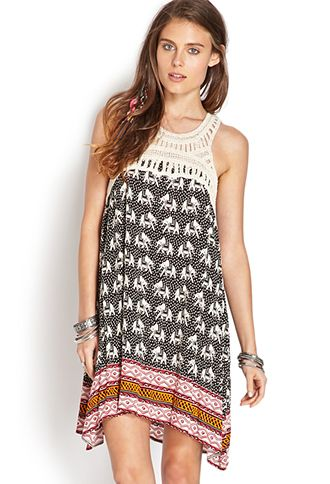 Elephant Frenzy Shift Dress | almost looks like something Anthro would sell. so cute.