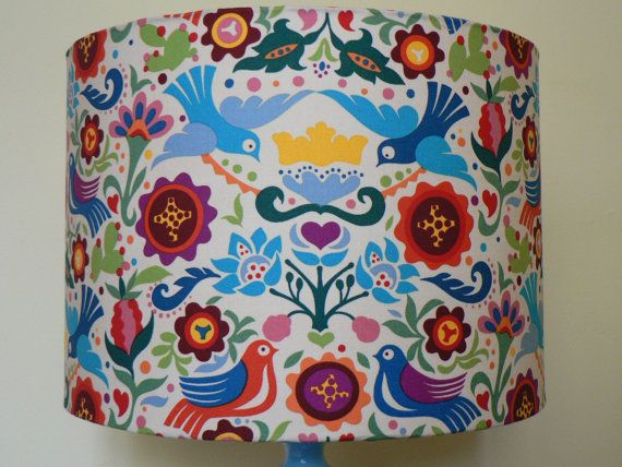 La Paloma 30cm Handmade Drum Lampshade by RubydoDesigns on Etsy, £29.00