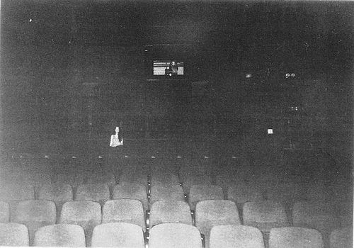 dark: Abandoned Theatre, Lonely Spectator, Movie Theater, Movie Theatre, Posts, Creepy Pictures, Movie Night, Black, Design Offices