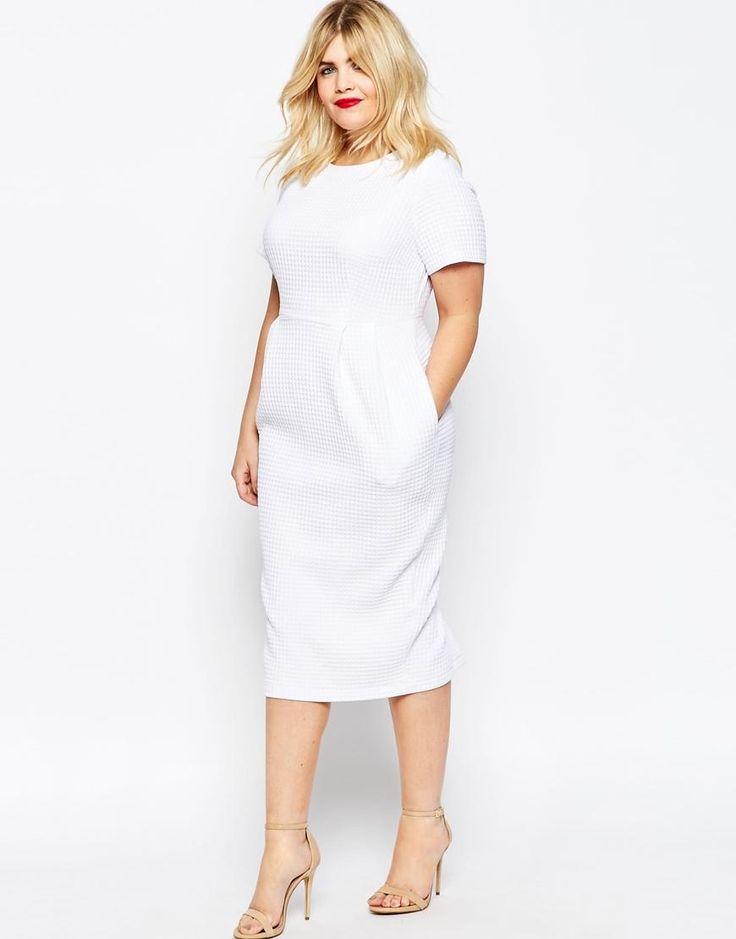 Plus dress white yam