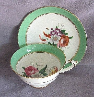 Paragon Cup and Saucer Green Rim | eBay: