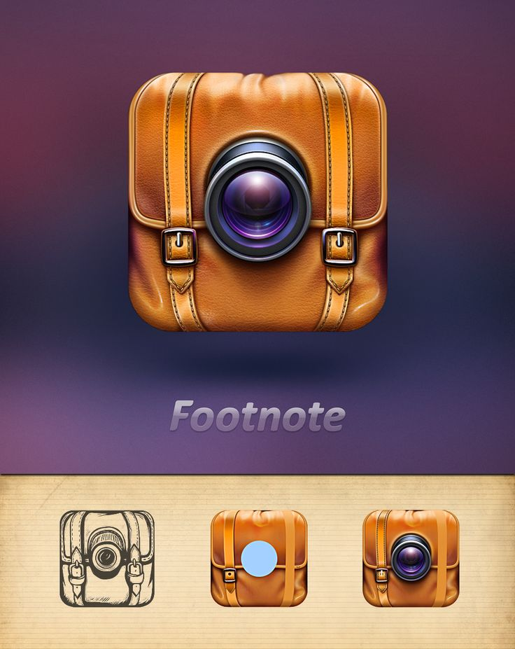 Camera App Icon for Travelers #icon #design #inspiration #process #sketches #pencil #iOS #iPhone #AppStore