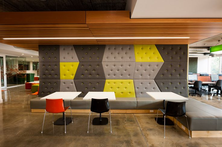 Custom booth seating by Burgtec @ Curtin University Building 501.