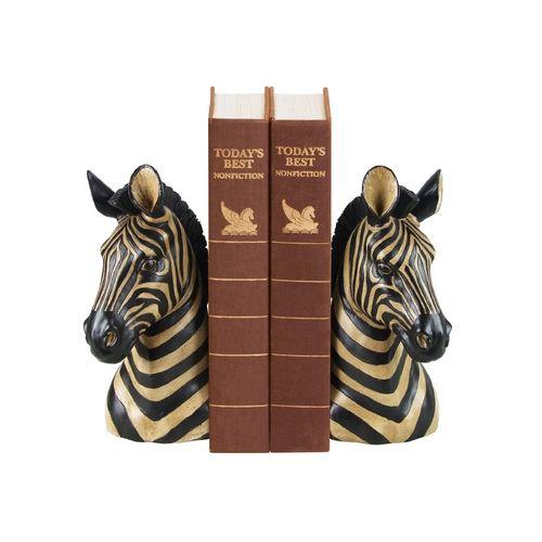 Zebra Decorative Bookend Set