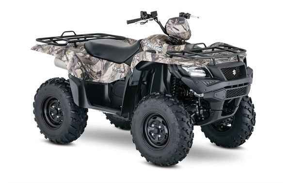 New 2016 Suzuki KingQuad 750AXi Power Steering Camo ATVs For Sale in North Carolina. 2016 Suzuki KingQuad 750AXi Power Steering Camo, Three decades of ATV manufacturing experience has led to the KingQuad 750 AXi Power Steering, and for the true outdoor enthusiasts, Suzuki's most powerful and technologically advanced ATV is offered in True Timber camouflage to help you blend in when you don't want to be seen. Abundant torque developed by the 722cc fuel-injected engine gives the KingQuad…