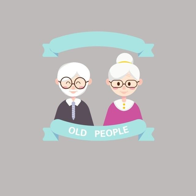 Vector Old Man Old Lady Elderly Cartoon Characters Glasses Png And Vector With Transparent Background For Free Download Cartoon Characters Happy Old Man Cartoon