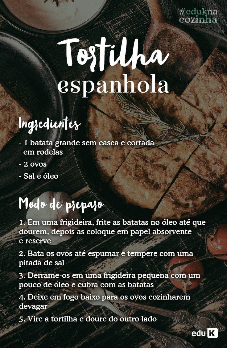 Teste essa deliciosa e fácil receita de tortilha espanhola! Quer mais receitas? Acesse eduK!