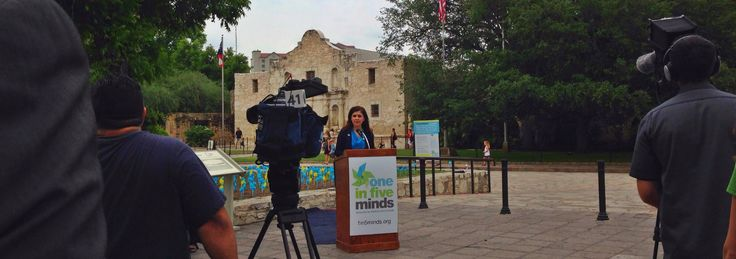 Justice Luz Elena Chapa was one of the featured speakers on May 6, 2015 during a One in Five Minds press conference in recognition of National Children's Mental Health Awareness Week. Against a backdrop of 3,000 pinwheels at Alamo Plaza, Chapa shared the story of her brother who was diagnosed with schizophrenia when he was in his early 20s. Before then, her brother's use of marijuana and alcohol was attributed to 'bad behavior' or rebellion.