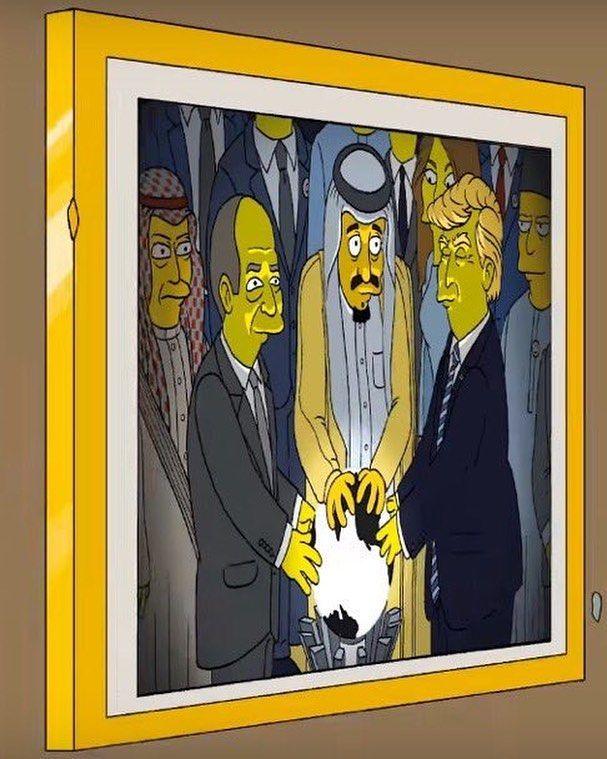 Simpsons spoof of the Orb scene at the American Arab summit is hilarious! . . #travel #traveller #travels #travelgram #wanderlust #instatravel #traveling #travelling #travelphotography #nature #traveler #igtravel #mytravelgram #explore #travelingram #photography #instagood #beautiful #adventure #ramadan #nofilter #love #instagram #melaniatrump #trump #usa #ivankatrump #flotus #hotel #potus