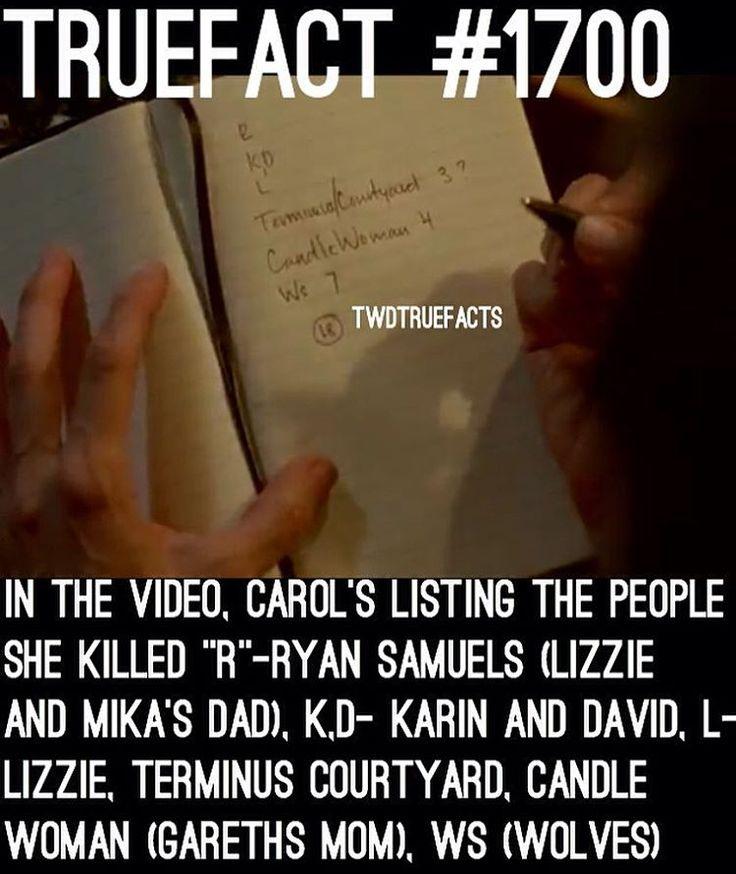 Carol's kill list.. Who's next? Sure will never be Negan ;) #TWD #WalkingDead #TheWalkingDead