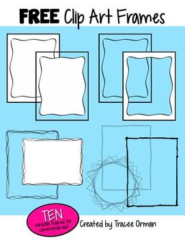 Free Clip Art Frames/Borders for Commercial Use, Volume 1