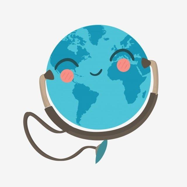 اليوم العالمي لصحة الأرض الأرض السماعة ممرضة صورة الإبداع سماعة الأذن Png والمتجهات للتحميل مجانا World Health Day World Earth Day World Environment Day