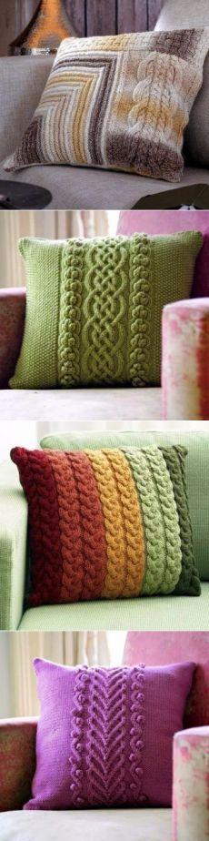 Вяжем спицами подушки