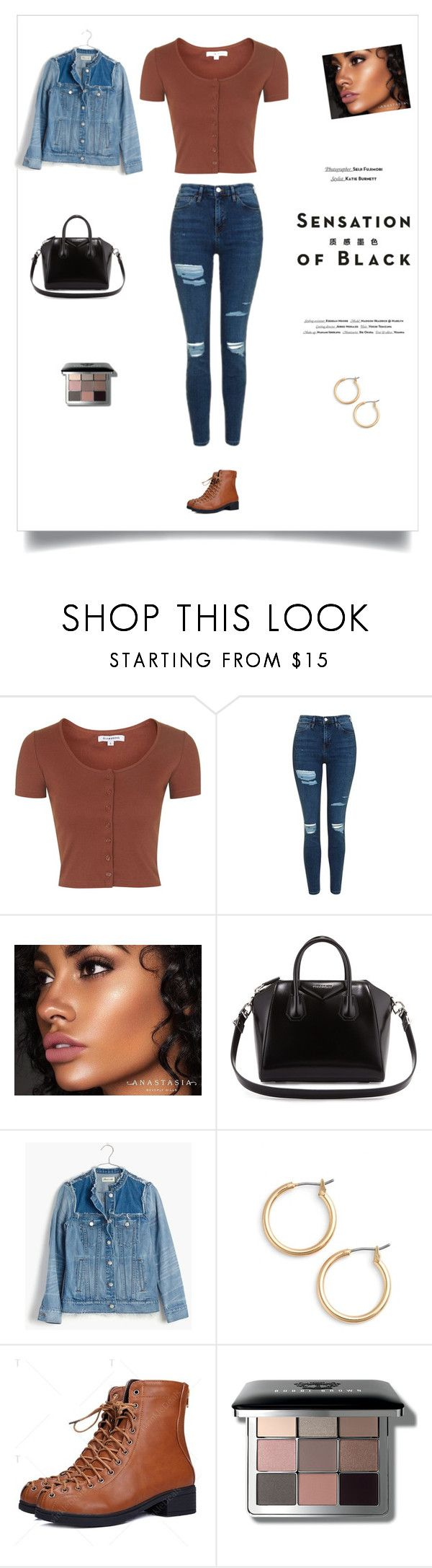 """""""Send me your location"""" by simplicitx ❤ liked on Polyvore featuring Vision, Topshop, Anastasia Beverly Hills, Givenchy, Madewell, Nordstrom and Bobbi Brown Cosmetics"""