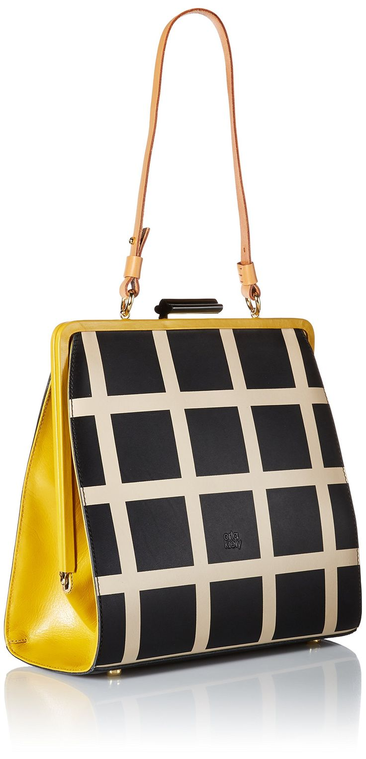 Orla Kiely Printed Leather Large Holly Top Handle Bag