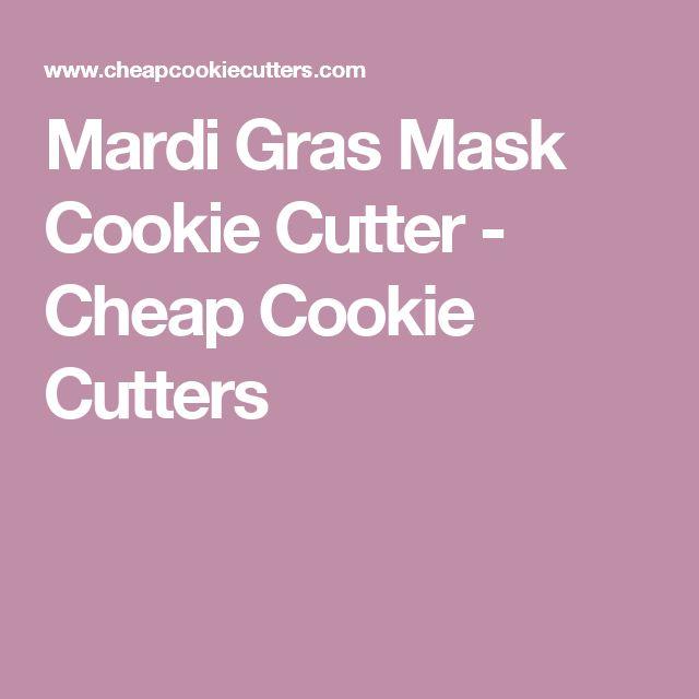 Mardi Gras Mask Cookie Cutter - Cheap Cookie Cutters