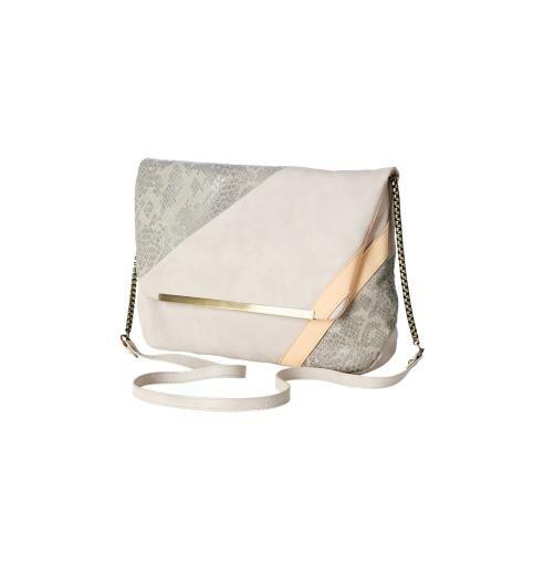 Torebka kopertówka nadruk w kolorze szarobeżowym - Promod