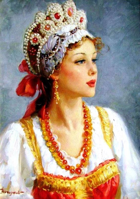Talented Russian artist realist Vladislav Nagornov was born in 1974 in the old town of Penza. He graduated from Penza Art College. Beautiful images of Russian women in folk costumes is the main inspiration for the artist. His works are in private and corporate collections in Russia and abroad.
