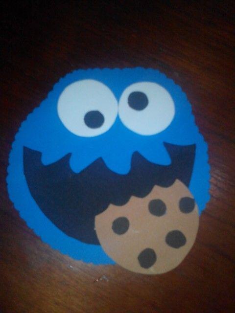 Invitacion de monstruo come galletas