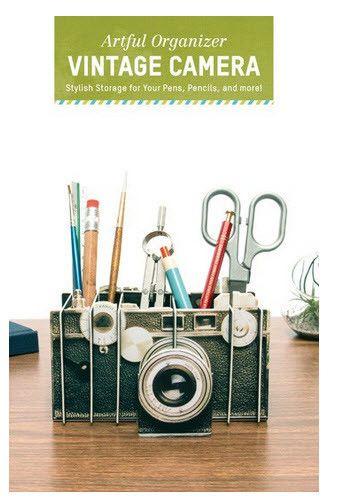 Artful Organizer Vintage Camera #Camera #cardboard #desk-accessories