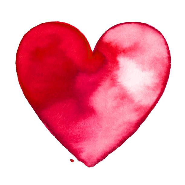 Red Watercolor Painted Heart Painted Hearts Watercolor Heart Heart Wallpaper