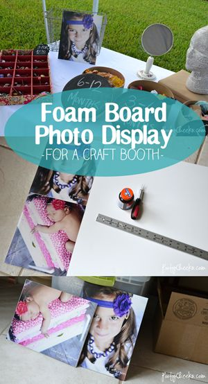 craft booth diy foam board photo display for maybe some of your flower pictures