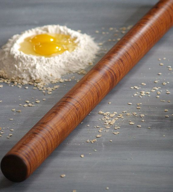 Long Pasta Rolling Pin Pasta Roller Food by CattailsWoodwork, $56.00