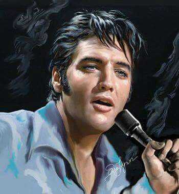 "( 2014 & 2015 IN MEMORY OF ★ † ELVIS PRESLEY "" ♪♫♪♪ Rock & roll / pop / rockabilly / country / blues / gospel / rhythm & blues "" Elvis art by Sara Lynn Sanders. "" ) ★ † ♪♫♪♪ Elvis Aaron Presley - Tuesday, January 08, 1935 - 5' 11¾"" - Tupelo, Mississippi, USA. Died; Tuesday, August 16, 1977 (aged of 42) Resting place Graceland, Memphis, Tennessee, USA. Cause of death: (cardiac arrhythmia)."