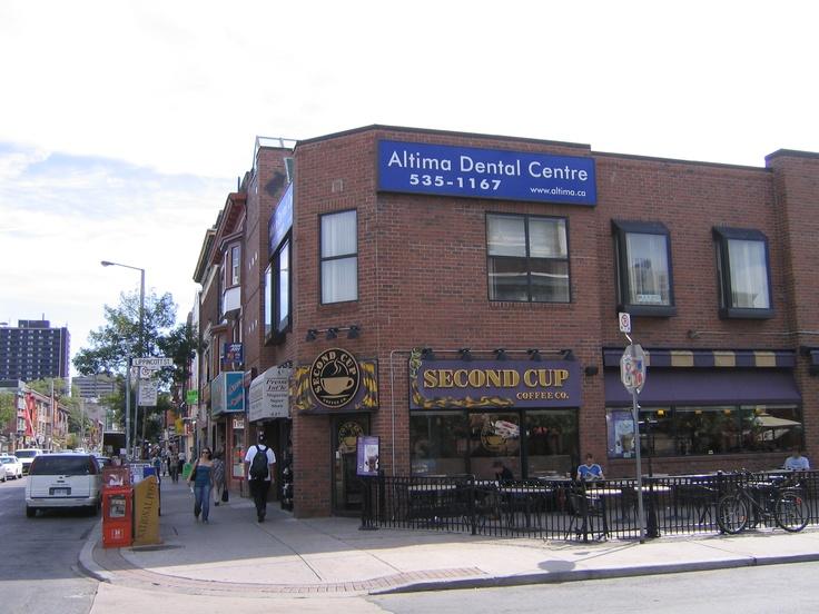 Altima Annex on the corner of Bloor Street and Albany Avenue near Bathurst Street.