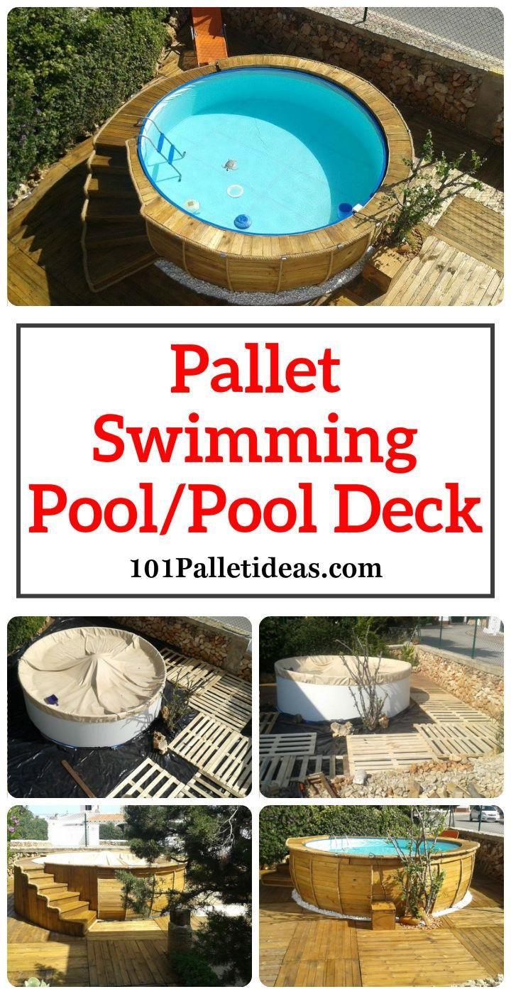 Pallet Swimming Pool / Pool Deck