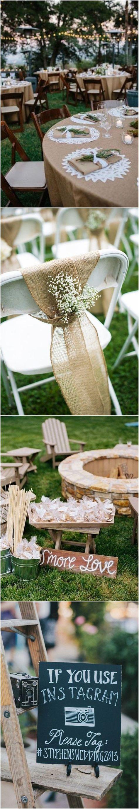 Wedding Decorations » 22 Rustic Backyard Wedding Decoration Ideas on A Budget » ❤️ More: http://www.weddinginclude.com/2017/08/rustic-backyard-wedding-decoration-ideas-on-a-budget/ #budgetweddingdecorations #weddingplanningonabudget