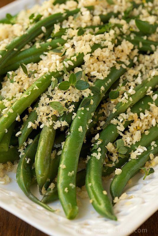 Ahead Green Beans with Lemon Herb Panko Crumbs - fresh, tender beans ...
