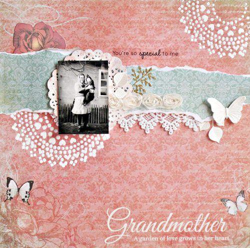 Grandmother scrapbook layout by Anna Zaprzelska