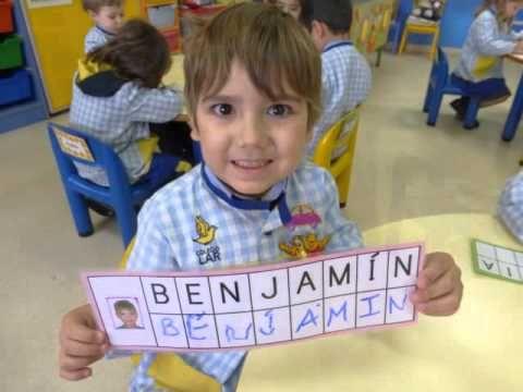 Escribimos nuestros Nombres - Ed. Infantil 3 años - Colegio Lar 14/15 - YouTube
