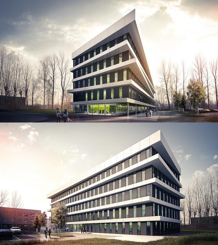 Office Building in Gliwice.  Architecture Design