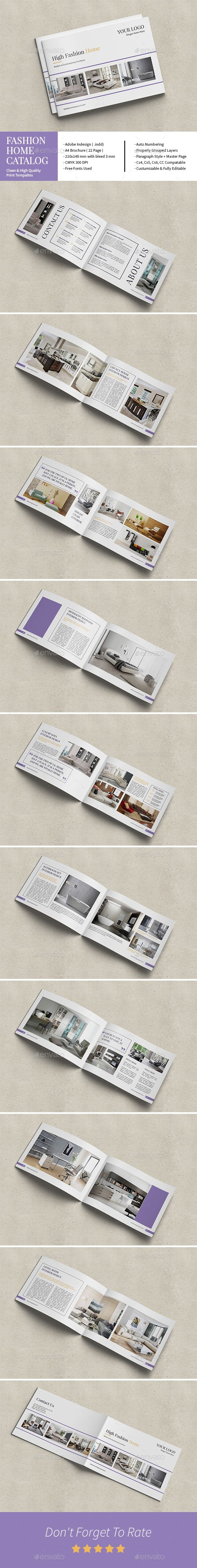 High Fashion Home Catalog Template InDesign INDD. Download here: http://graphicriver.net/item/high-fashion-home-catalog/16850767?ref=ksioks