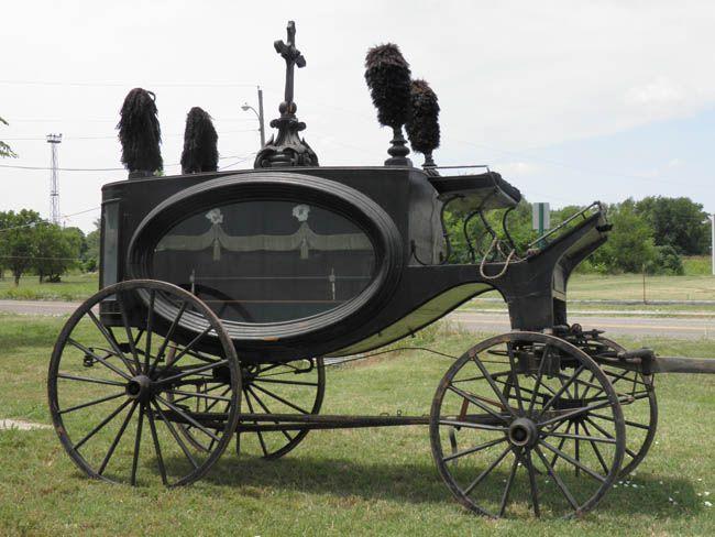 Horse-drawn hearse, up for auction Saturday, July 21, 2012, Arkansas City, Kansas